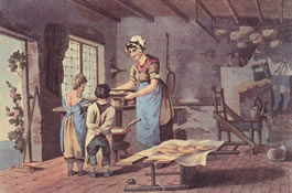 Woman Making Oatcakes